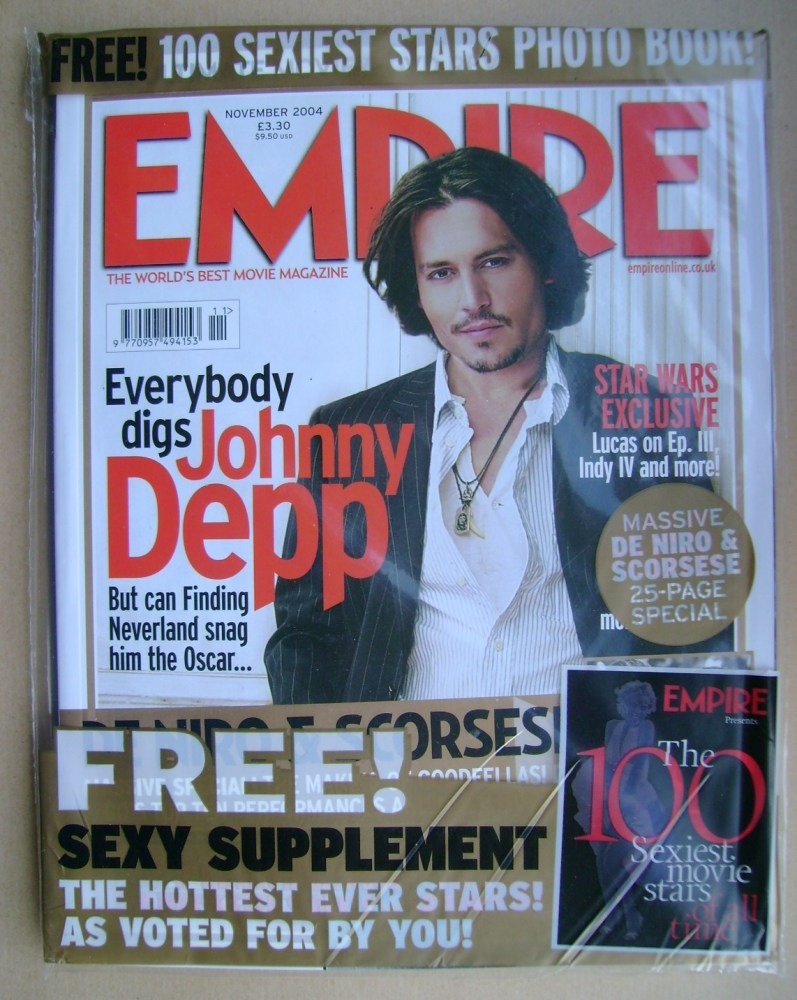 <!--2004-11-->Empire magazine - Johnny Depp cover (November 2004 - Issue 18