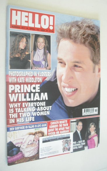 <!--2004-04-13-->Hello! magazine - Prince William cover (13 April 2004 - Is