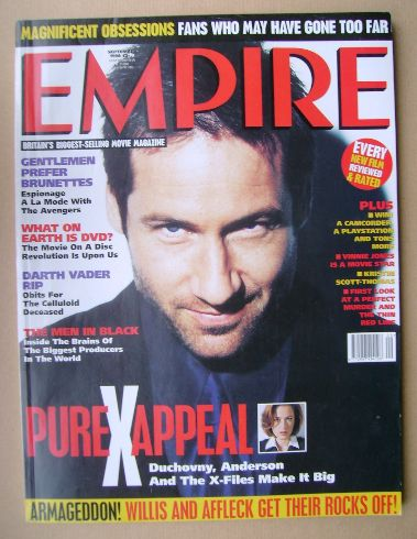 <!--1998-09-->Empire magazine - David Duchovny cover (September 1998 - Issu
