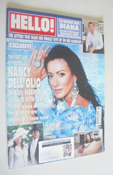 <!--2004-06-29-->Hello! magazine - Nancy Dell'Olio cover (29 June 2004 - Is
