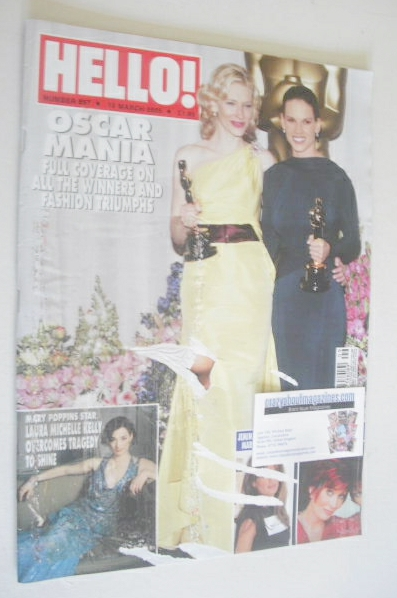 <!--2005-03-10-->Hello! magazine - The Oscars cover (10 March 2005 - Issue