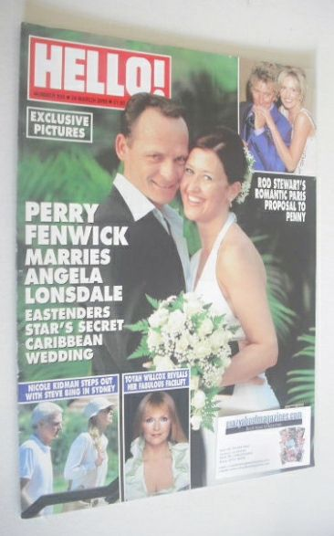 <!--2005-03-24-->Hello! magazine - Perry Fenwick and Angela Lonsdale weddin