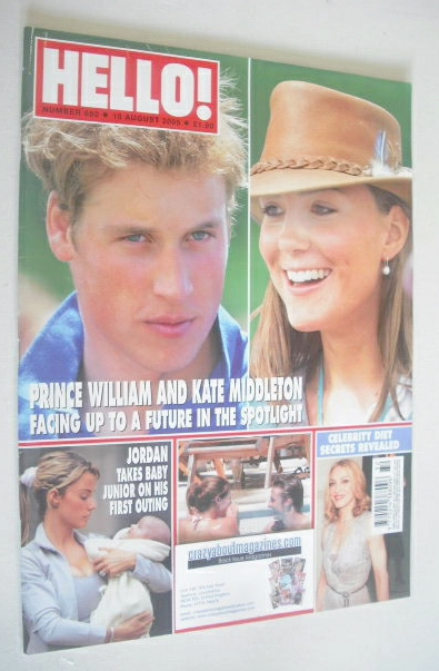 <!--2005-08-18-->Hello! magazine - Prince William and Kate Middleton cover