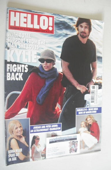 <!--2005-09-15-->Hello! magazine - Kylie Minogue and Olivier Martinez cover