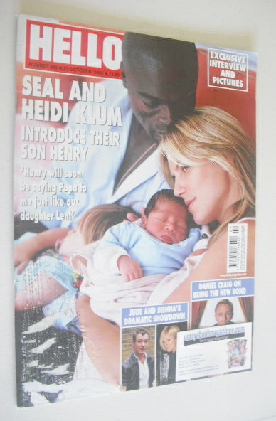 <!--2005-10-27-->Hello! magazine - Seal and Heidi Klum cover (27 October 20