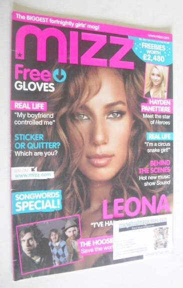 <!--2008-01-10-->MIZZ magazine - Leona Lewis cover (10-23 January 2008)