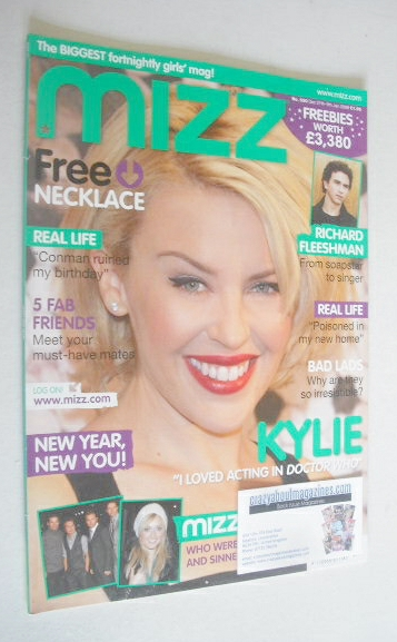 <!--2007-12-27-->MIZZ magazine - Kylie Minogue cover (27 December 2007 - 9