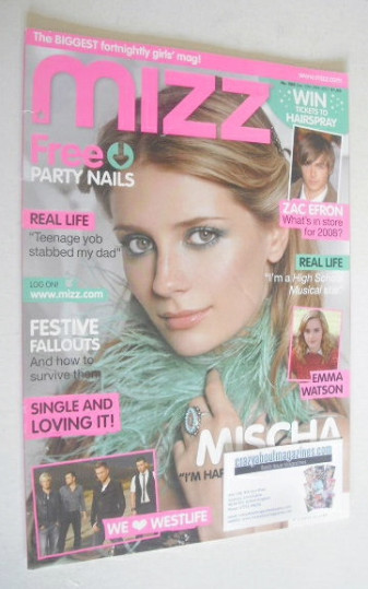 <!--2007-12-13-->MIZZ magazine - Mischa Barton cover (13-26 December 2007)