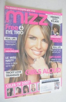 MIZZ magazine - Nadine Coyle cover (29 November - 12 December 2007)