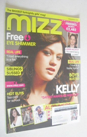 <!--2007-08-23-->MIZZ magazine - Kelly Clarkson cover (23 August - 5 Septem