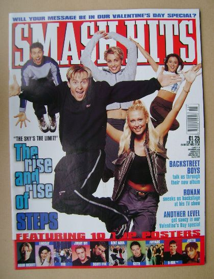<!--1999-02-10-->Smash Hits magazine - Steps cover (10 February 1999)