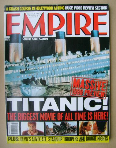 <!--1998-02-->Empire magazine - Titanic cover (February 1998 - Issue 104)