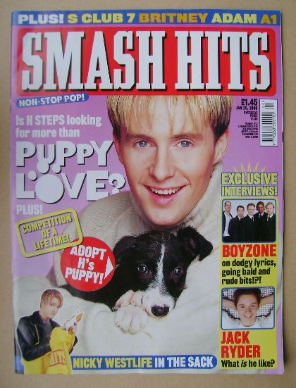 <!--2000-01-26-->Smash Hits magazine - H (Steps) cover (26 January 2000)