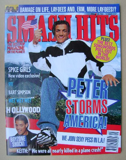 <!--1997-02-26-->Smash Hits magazine - Peter Andre cover (26 February - 11