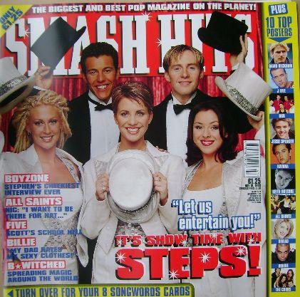 <!--1998-11-18-->Smash Hits magazine - Steps cover (18 November 1998)