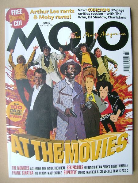 <!--2002-06-->MOJO magazine - At The Movies cover (June 2002 - Issue 103)