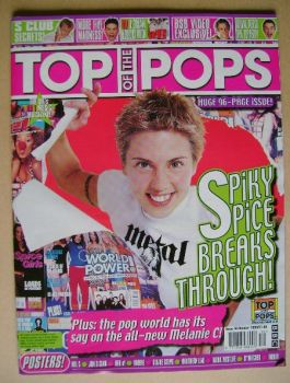 Top Of The Pops magazine - Mel C cover (October 1999)