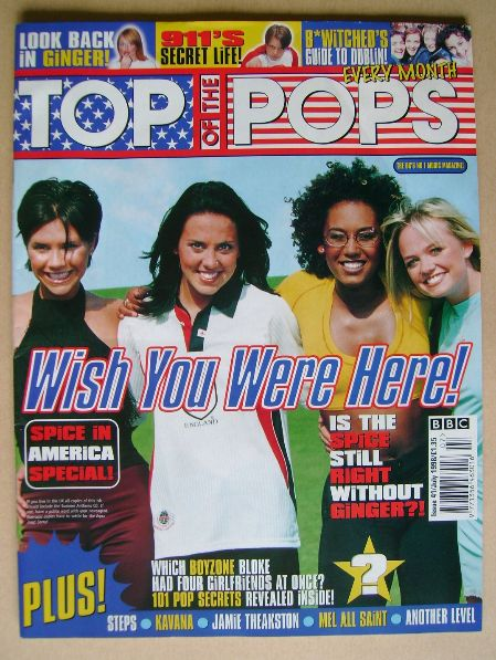 <!--1998-07-->Top Of The Pops magazine - Spice Girls cover (July 1998)