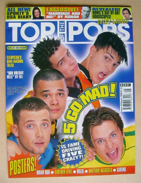 <!--1998-08-->Top Of The Pops magazine - Five cover (August 1998)