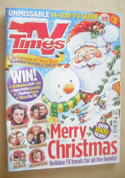 <!--2013-12-21-->TV Times magazine - Christmas and New Year Issue (21 Decem