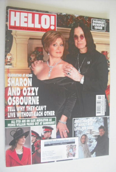 <!--2007-01-02-->Hello! magazine - Sharon Osbourne and Ozzy Osbourne cover