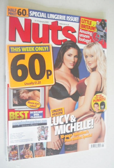 <!--2005-02-11-->Nuts magazine - Lucy Pinder and Michelle Marsh cover (11-1