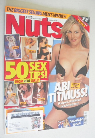 <!--2005-01-28-->Nuts magazine - Abi Titmuss cover (28 January - 3 February