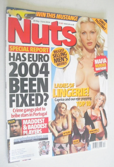 <!--2004-05-28-->Nuts magazine - Caprice cover (28 May - 3 June 2004)