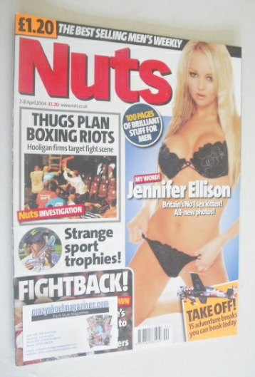 <!--2004-04-02-->Nuts magazine - Jennifer Ellison cover (2-8 April 2004)