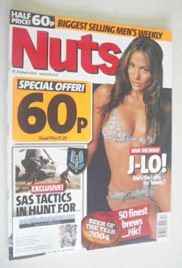 <!--2004-03-19-->Nuts magazine - Jennifer Lopez cover (19-25 March 2004)