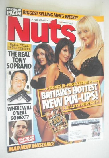 <!--2004-04-30-->Nuts magazine - Britain's Hottest New Pin-Ups cover (30 Ap