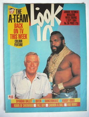 <!--1984-09-01-->Look In magazine - The A-Team cover (1 September 1984)