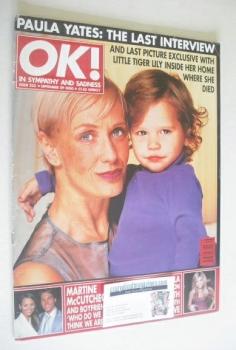 OK! magazine - Paula Yates cover (29 September 2000 - Issue 232)