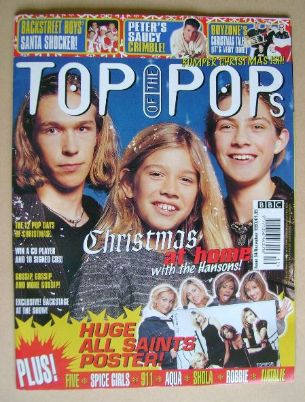 <!--1997-12-->Top Of The Pops magazine - Hanson cover (December 1997)