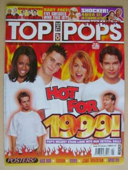 Top Of The Pops magazine - Hot for 1999 cover (January 1999)