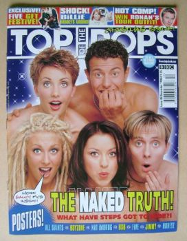 Top Of The Pops magazine - Steps cover (December 1998)