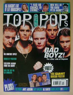 <!--1997-11-->Top Of The Pops magazine - Boyzone cover (November 1997)