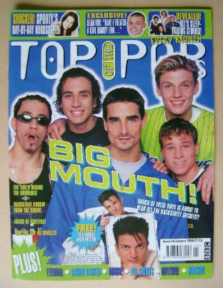 <!--1998-01-->Top Of The Pops magazine - Backstreet Boys cover (January 199