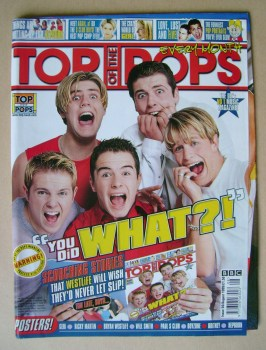 Top Of The Pops magazine - Westlife cover (August 1999)