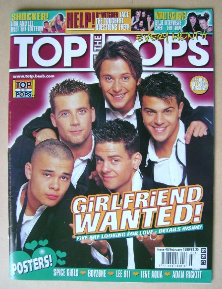 <!--1999-02-->Top Of The Pops magazine - Five cover (February 1999)