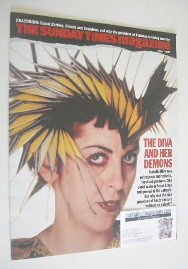 <!--2007-08-12-->The Sunday Times magazine - Isabella Blow cover (12 August