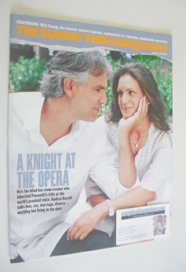 <!--2008-09-28-->The Sunday Times magazine - Andrea Bocelli and Veronica Be