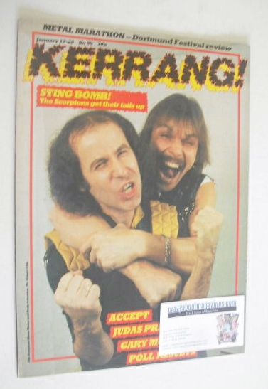 <!--1984-01-12-->Kerrang magazine - The Scorpions cover (12-25 January 1984