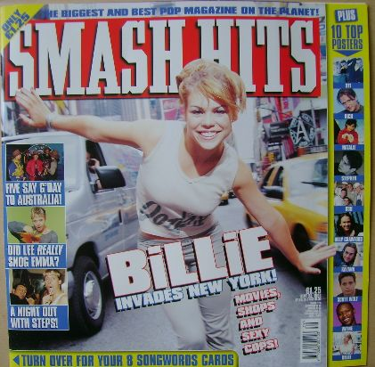 <!--1998-09-23-->Smash Hits magazine - Billie Piper cover (23 September 199