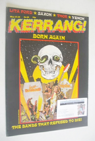 <!--1984-05-17-->Kerrang magazine - Born Again cover (17-30 May 1984 - Issu