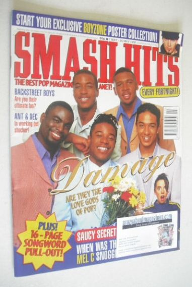 <!--1997-05-07-->Smash Hits magazine - Damage cover (7 May - 20 May 1997)