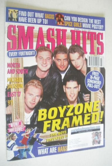 <!--1997-07-02-->Smash Hits magazine - Boyzone cover (2-16 July 1997)