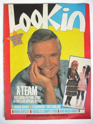 <!--1985-02-23-->Look In magazine - George Peppard cover (23 February 1985)