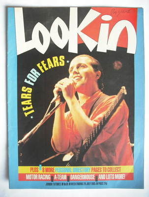 <!--1985-07-20-->Look In magazine - Tears For Fears cover (20 July 1985)
