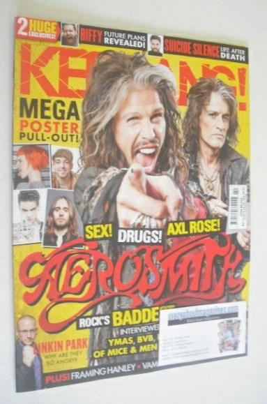 <!--2014-05-31-->Kerrang magazine - Aerosmith cover (31 May 2014 - Issue 15